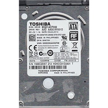 DELL 320GB SATA III 6G 7.2K 2,5 7mm MQ01ACF032 0HN7VH