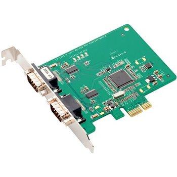 MOXA 2xCOM RS232 CP-102E PCIex1 WIN WIN XP 7 8 10