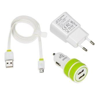 ZESTAW ŁADOWAREK iBOX 3w1 KIT USB 2.1A ILUZ3W1