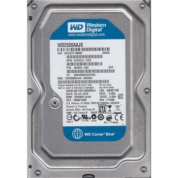 WD CAVIAR BLUE 250GB SATA 7.2K 8MB 3,5 WD1600AAJS