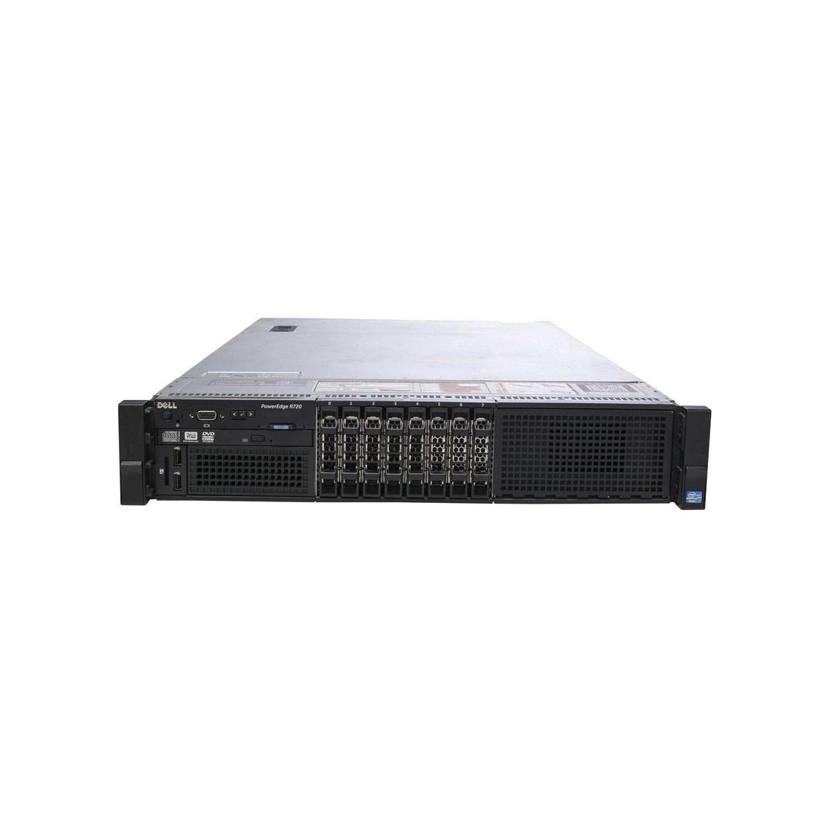 DELL R720 2xE5-2620 v2 SIX 16GB 0HDD H310 2xPSU