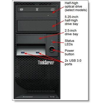 WIN2019 25CAL+LENOVO TS150 E3v6 32GB 2xSSD 2xHDD