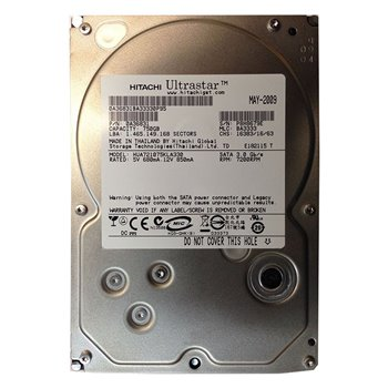 IBM NETAPP HITACHI 750GB SATA 3G 7.2K 3,5 45E0884
