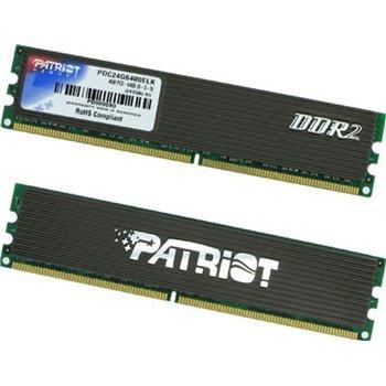 PAMIEC PATRIOT KIT 2x1GB DDR2 800MHz PDC22G6400LLK