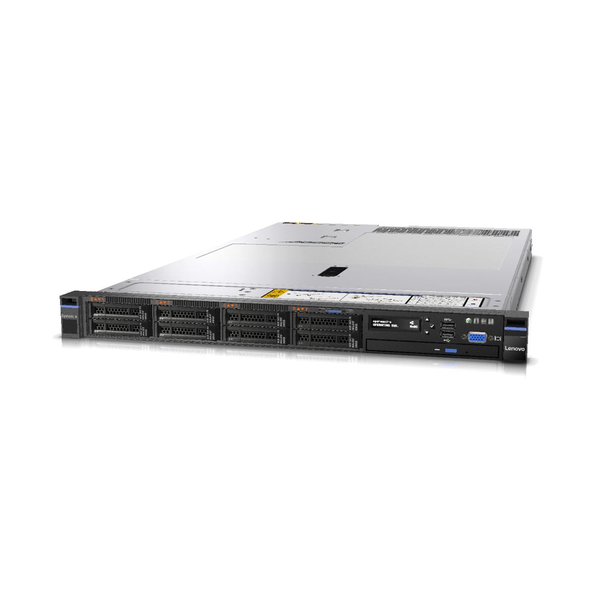 LENOVO x3550 m5 RACK E5v3 32GB 2x900GB M5210 SZYNY