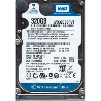 WD SCORPIO BLUE 320GB SATA 3G 2,5 WD3200BPVT