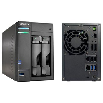 NAS ASUSTOR AS6102T 2x3TB RAID USB 2xLAN CHMURA