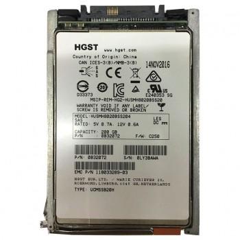 EMC HGST 200GB SAS SSD 12G 2,5 RAMKA 118033289-03